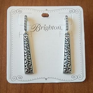 Brighton Deco Luxe Sleek Post Drop Earrings